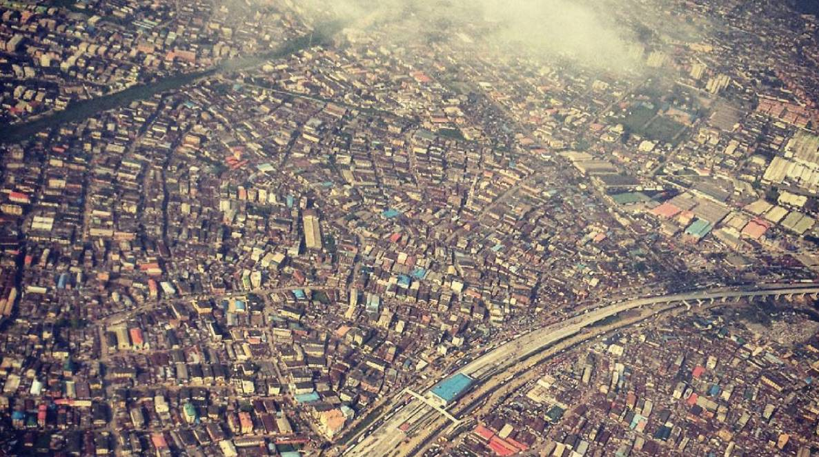 Aerial view of Lagos